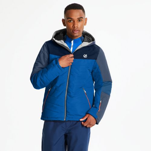 Men's Domain Quilted Ski Jacket Admiral Oxford Blue